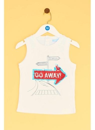 BG Baby Erkek Bebek Beyaz Atlet 19SS2BG1552 Beyaz